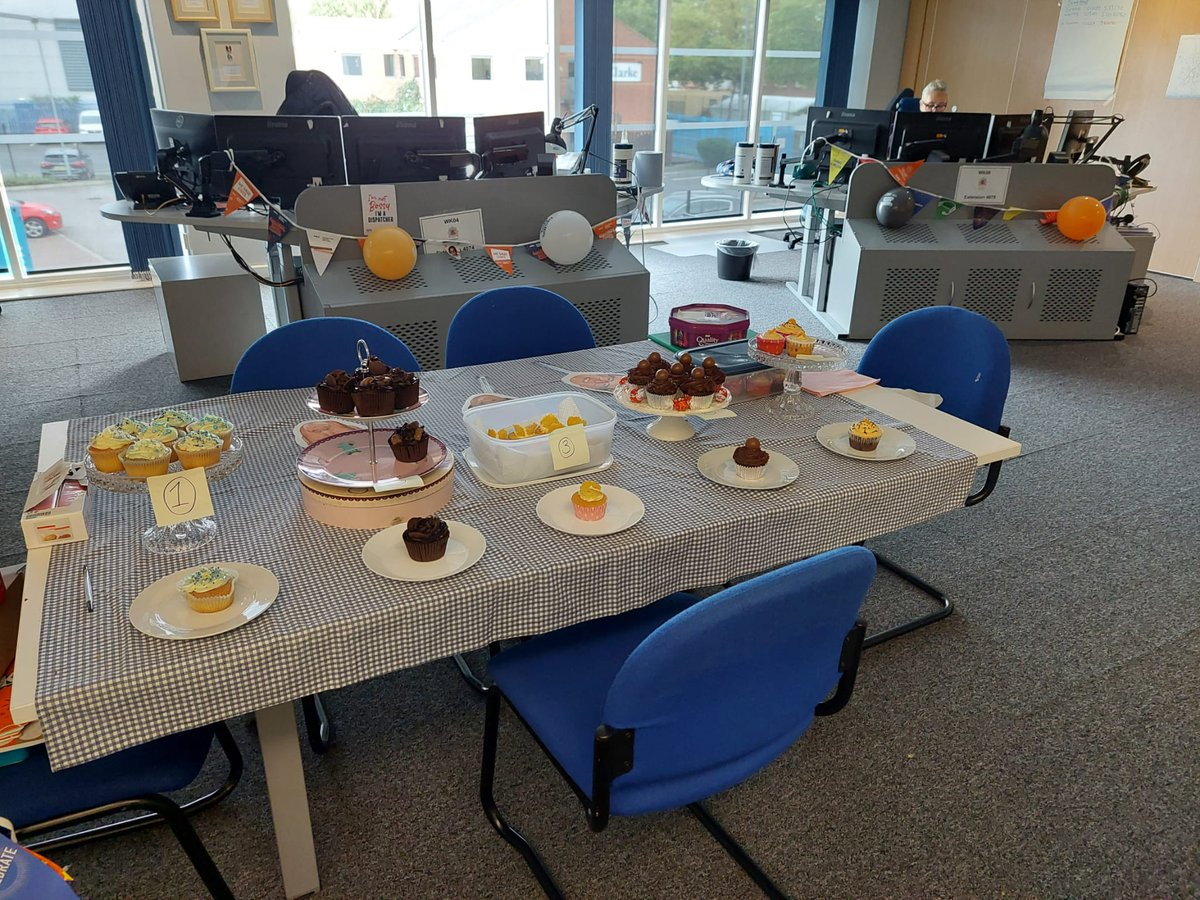 Today's cupckae day in our @DfrsNfrsControl bake off🍰 1st and second prize go to Graan Watch, with Blue Watch in close 3rd! #ControlRoomHeroes #InternationalControlRoomWeek