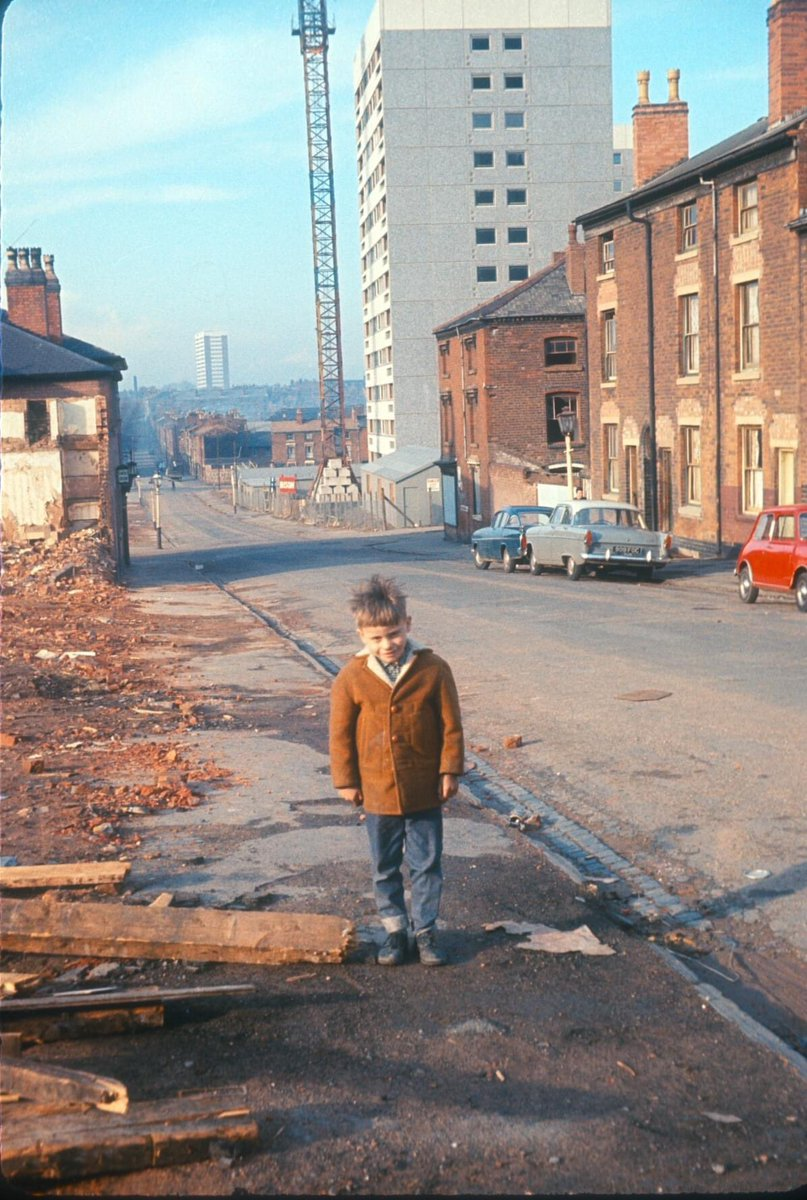 Newtown, Old Houses, New Flats in Great Russell Street. 28th March 1967 © University of Birmingham Phyllis Nicklin