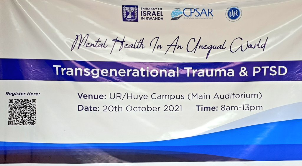 Today I attended World Mental Health Day event at @Uni_Rwanda, @HuyeDistrict.  Organized by @cpsarwanda and sponsored by @IsraelinRwanda, the gathering of  students from UR sought to raise awareness on #mentalhealth, on treatmemt and prevention of trauma.  @NARwanda @RBCRwanda