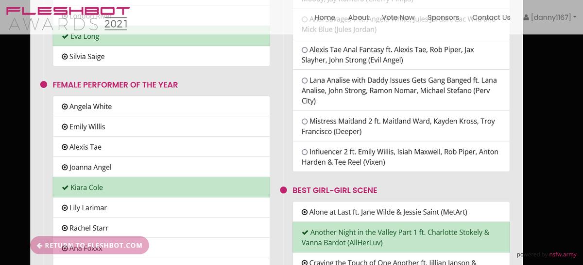 Voted for @kiaracolexx Female Performer of the Year @Fleshbot Awards fleshbotawards.com/?voted=1#nomin…