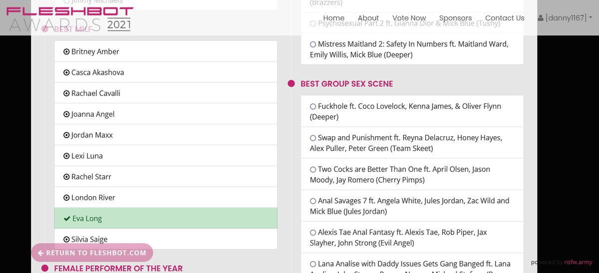 Voted for @EvalongL Best Milf @Fleshbot Awards fleshbotawards.com/?voted=1#nomin…