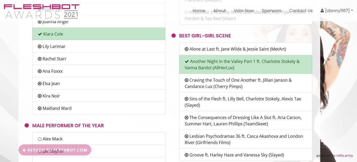 Voted for @char_stokely and @vannabardot Best G/G Scene @Fleshbot Awards fleshbotawards.com/?voted=1#nomin…