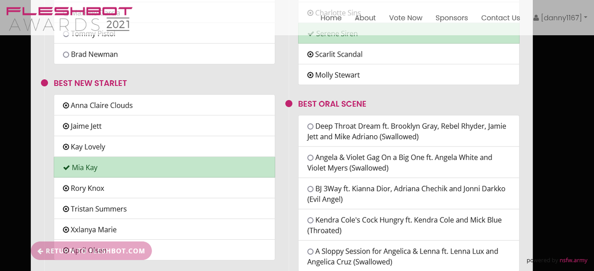 Voted for @MissMiaKayXXX Best New Starlet @Fleshbot Awards fleshbotawards.com/?voted=1#nomin…