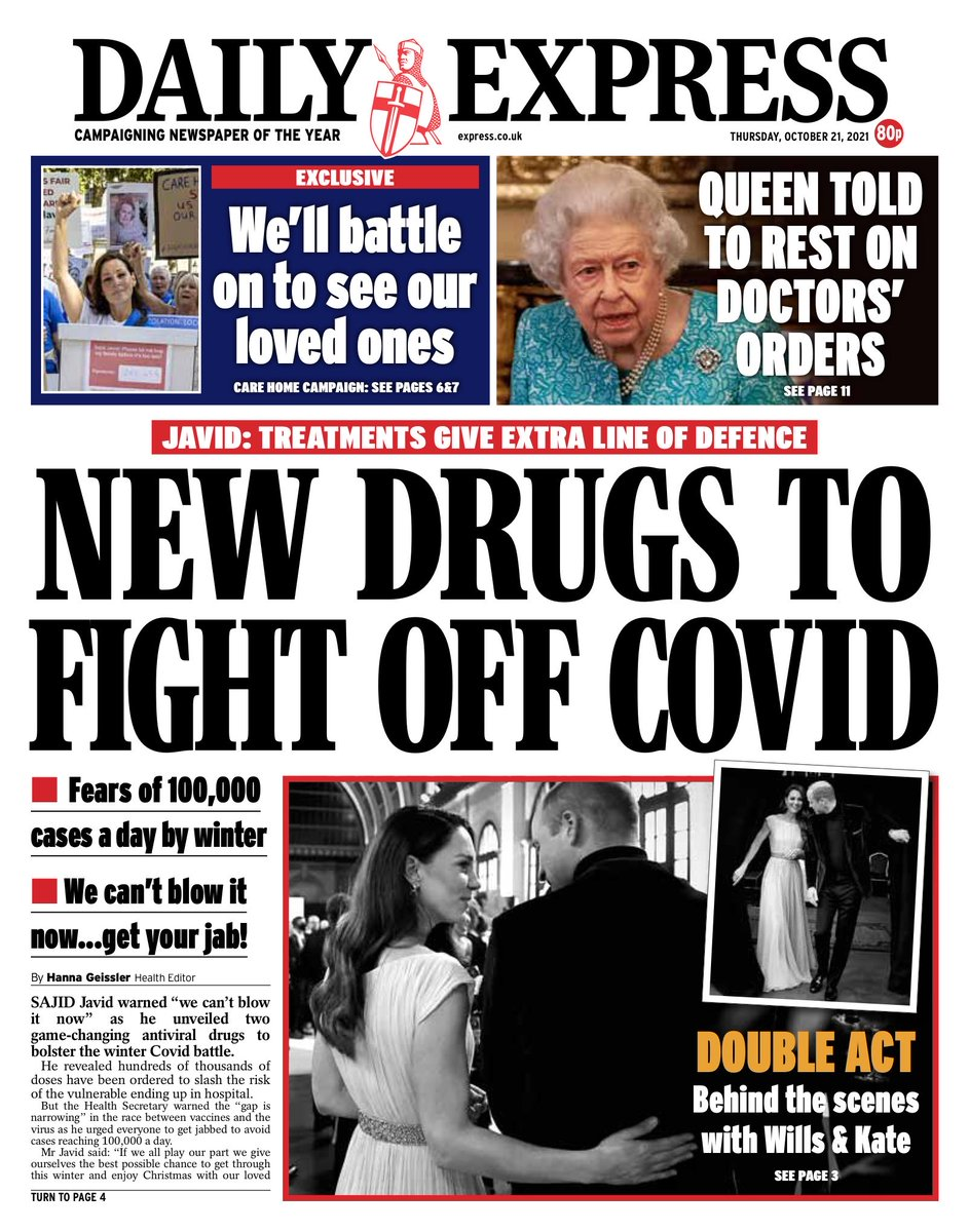 EXPRESS: New drugs to fight off Covid #TomorrowsPapersToday