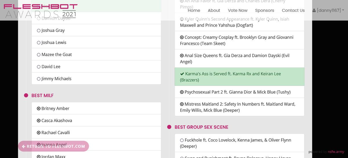Voted for @Karma_Rx Best Anal Scene @Fleshbot Awards fleshbotawards.com/?voted=1#nomin…
