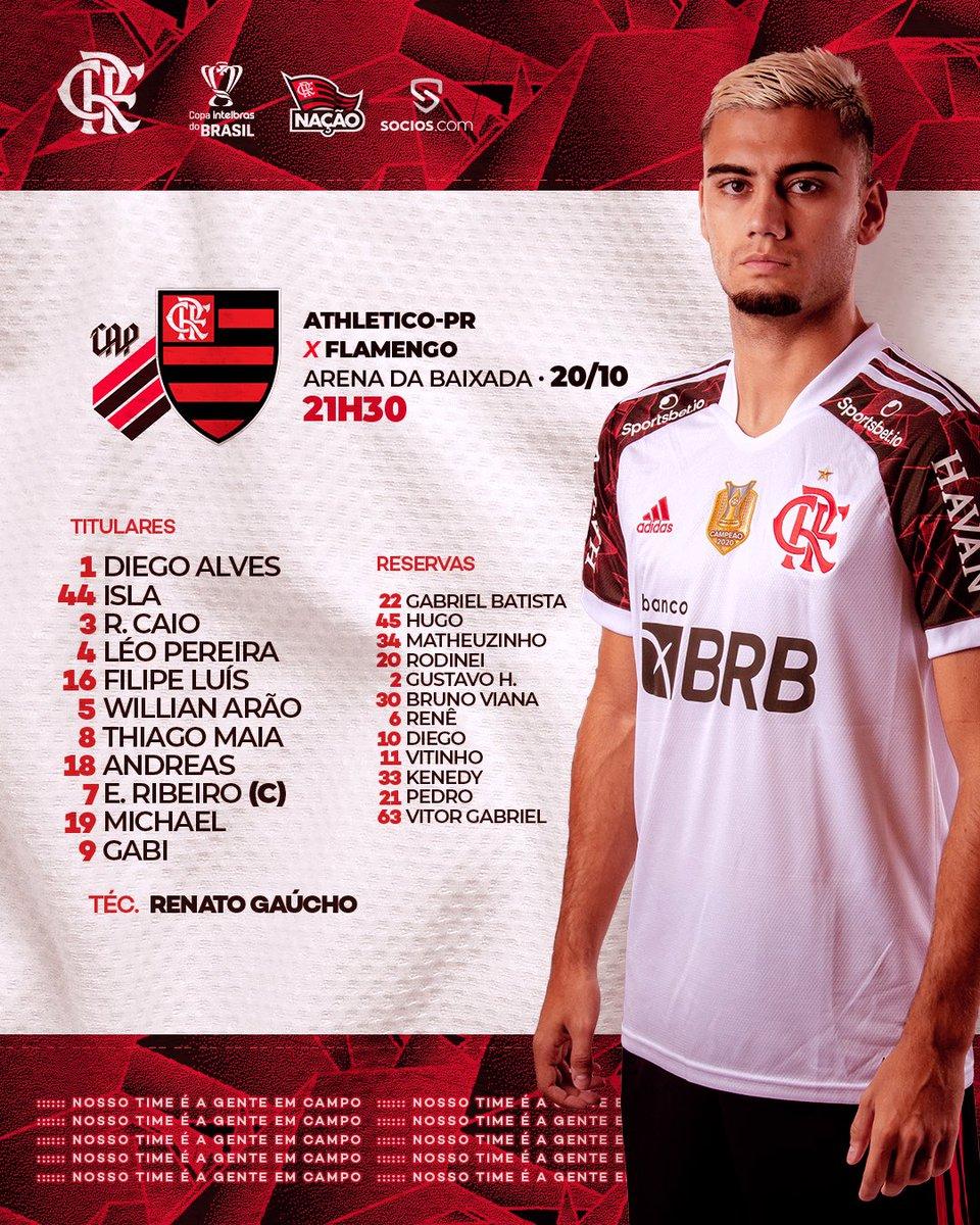 Flamengo definido: #FlaENM #BaixadaENM