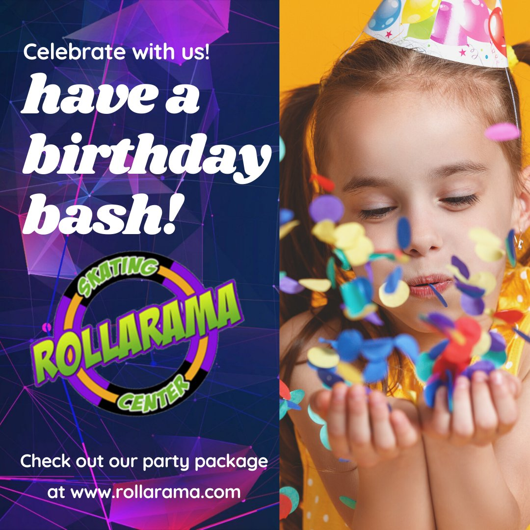 Have a special birthday coming up? Let's plan a party for your Birthday🎁🎈⭐ Star! Rollarama has a great birthday package, we. have 2 openings on Saturdays and Sundays so book early! #birthday #partyidea #letsparty #rollarama #rollerskating
