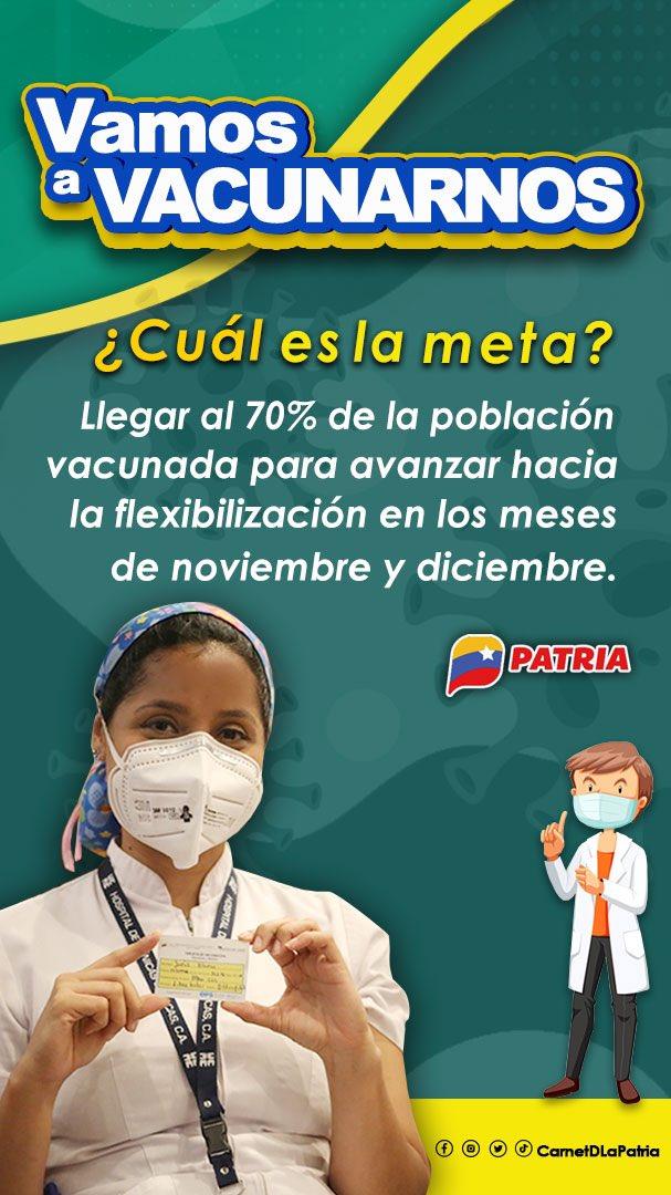 #Entérate El Gobierno Bolivariano triplica los esfuerzos de vacunación para proteger al pueblo venezolano de la Covid-19. ¡Máxima Precaución!   #LaPatriaTieneConQue #PuebloQueProduceYVence