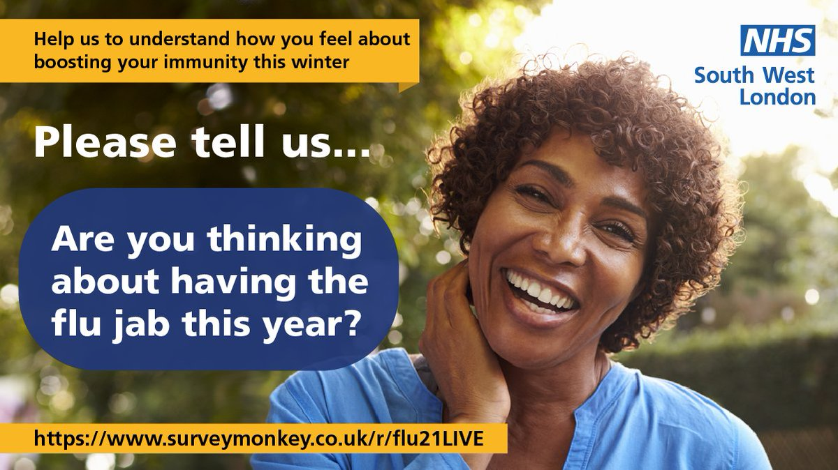 With 2 viruses circulating this winter, we want to ensure everyone is informed about Flu and Covid booster vaccines. If you live in Croydon, are aged 50-64 or are parents of 2 -3 year olds, complete our short survey for the chance to win a £100 voucher. surveymonkey.co.uk/r/flu21LIVE