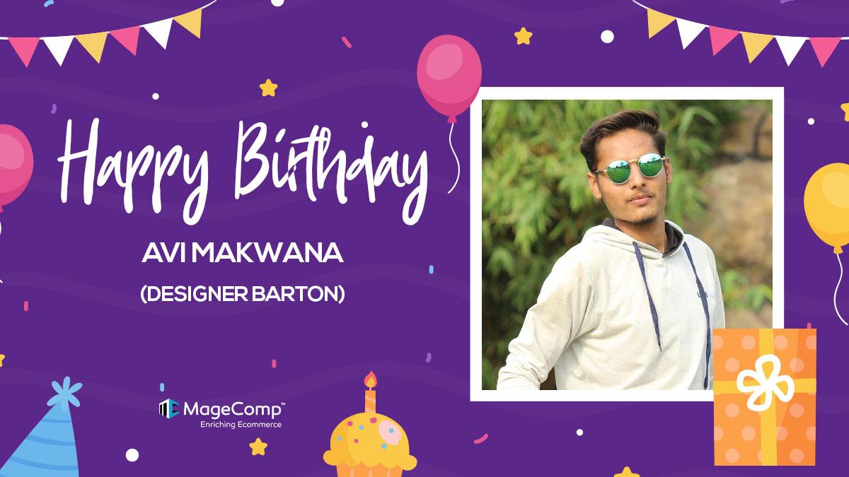 🥳 Wishing you a Birthday filled with joy and a year filled with success. Happy Birthday, Avi Makwana (Designer Barton) 🎂🎉🎊  #birthdaycelebration #birthdaybash #birthdaycake #birthdaywishes #birthdayparty