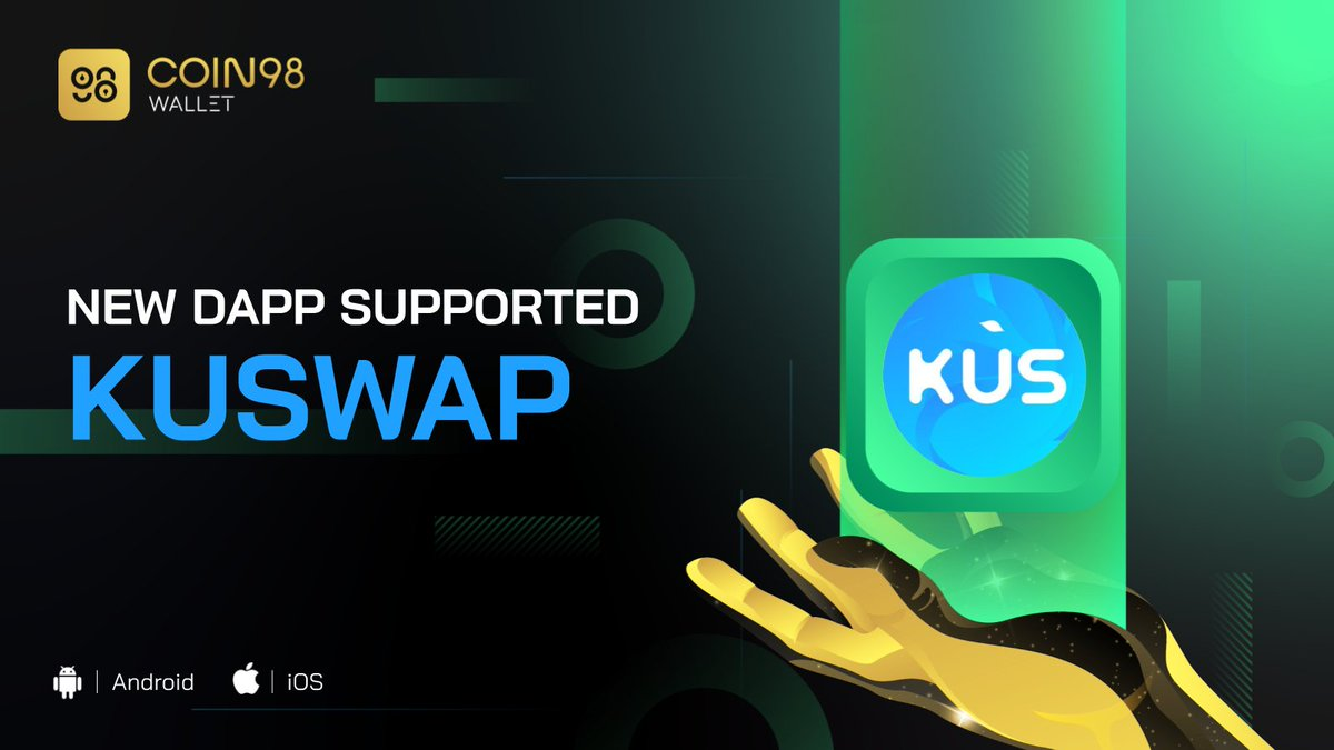 .@kuswapfinance - the #1 AMM & Yield Farming on @KCCOfficialTW network has just arrived at #Coin98Wallet. Users can now connect their wallets, enjoy the KCC's most powerful DEX with the lowest fees right on our DApp Browser! 🤗 💥 Try now: coin98.com/wallet