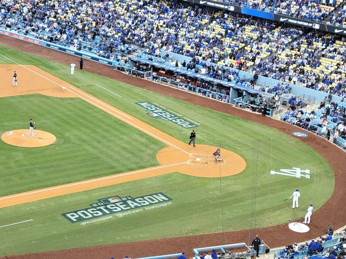 At the start before Atlanta started hitting home runs.