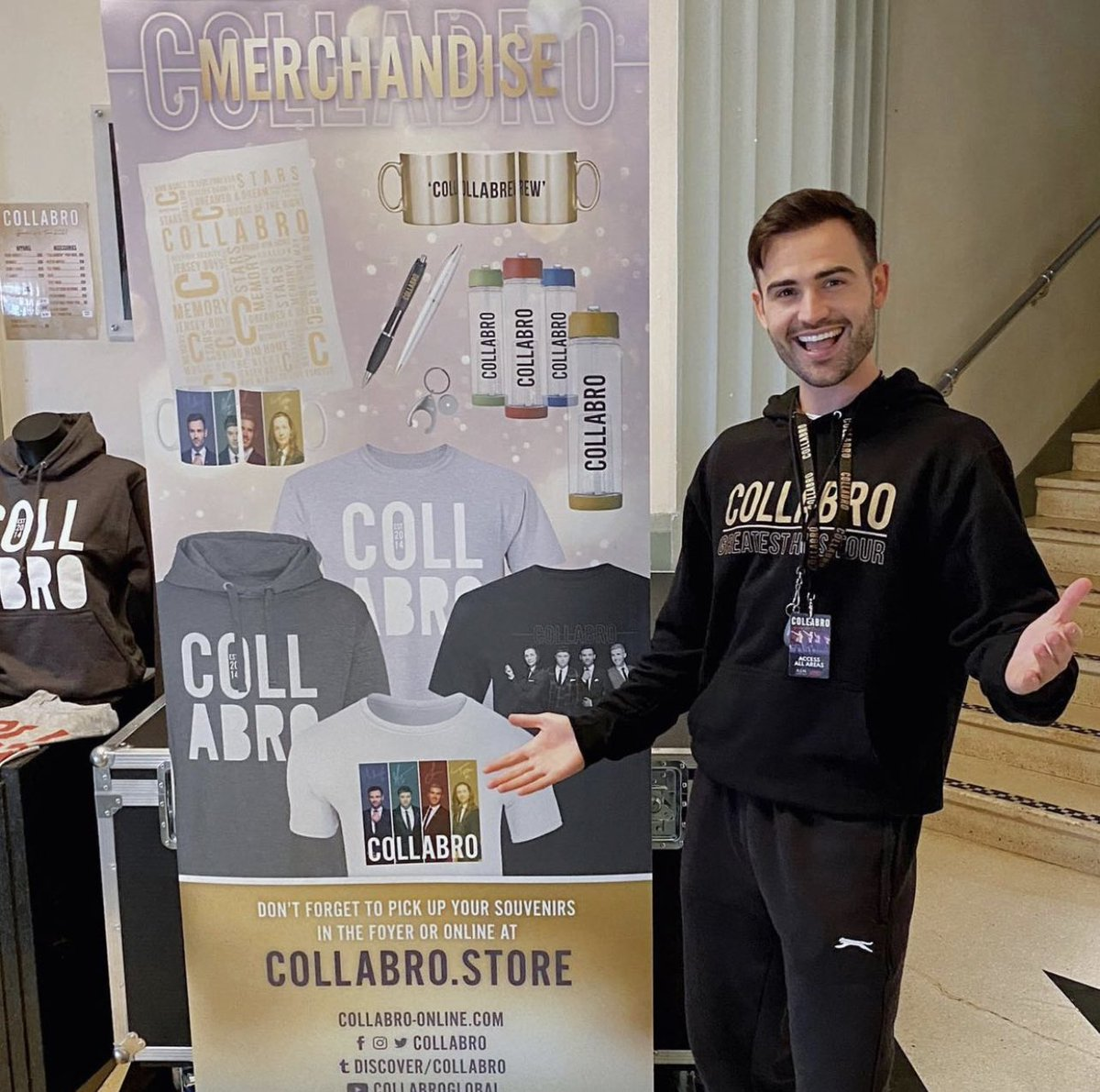 Have you visited the #CollabroTour merchandise stand when you've been to see the show? Let us know what you picked up/your favourite items 🙌 Don't forget to tag us in your pics of you wearing the apparel (or leave them in the comments below) 👏📸 👕 collabro.store