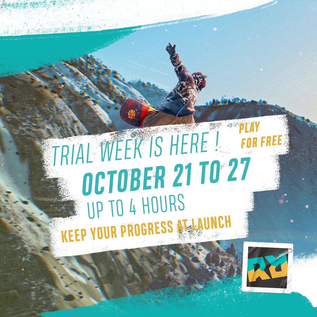 Fellow Riders, unleash the madness ⚡ Riders Republic Trial Week is open: ridersrepublic.com/trial-week