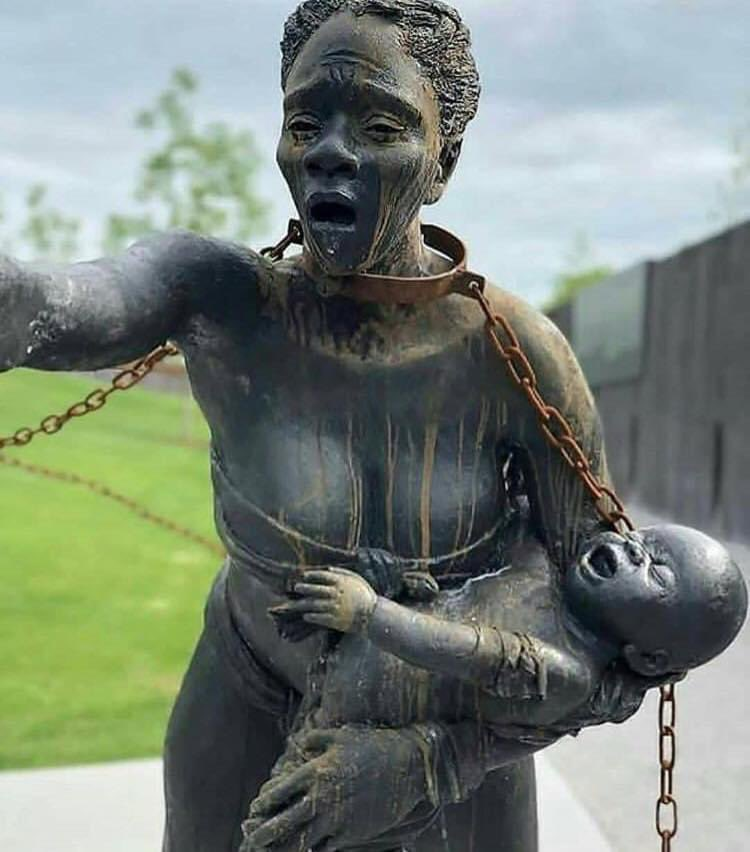 Kwame Akoto-Bamfo, He is a Ghanaian sculptor. His outdoor sculpture dedicated to the memory of the victims of the Transatlantic slave trade is on display at the National Memorial for Peace and Justice that opened in 2018 in Montgomery, Alabama.