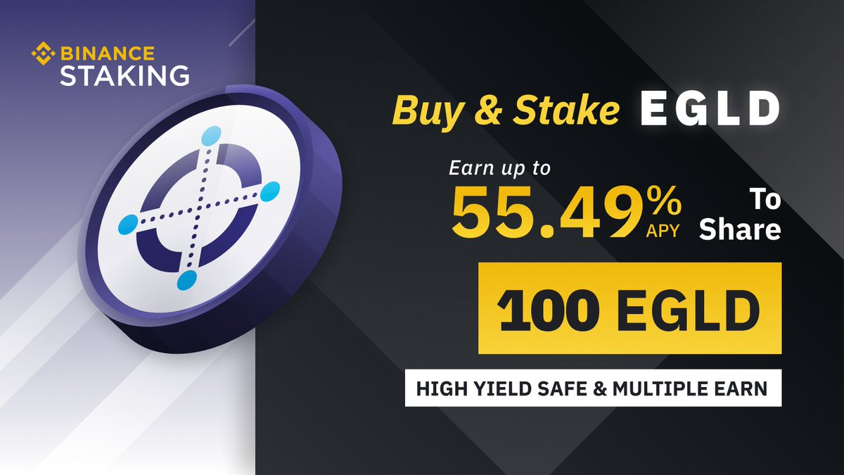 Important step forward.  @binance becomes an official staking provider on @ElrondNetwork.🛠️🔥  To celebrate the event, a new staking special is launched. https://t.co/A78zDn8CWJ