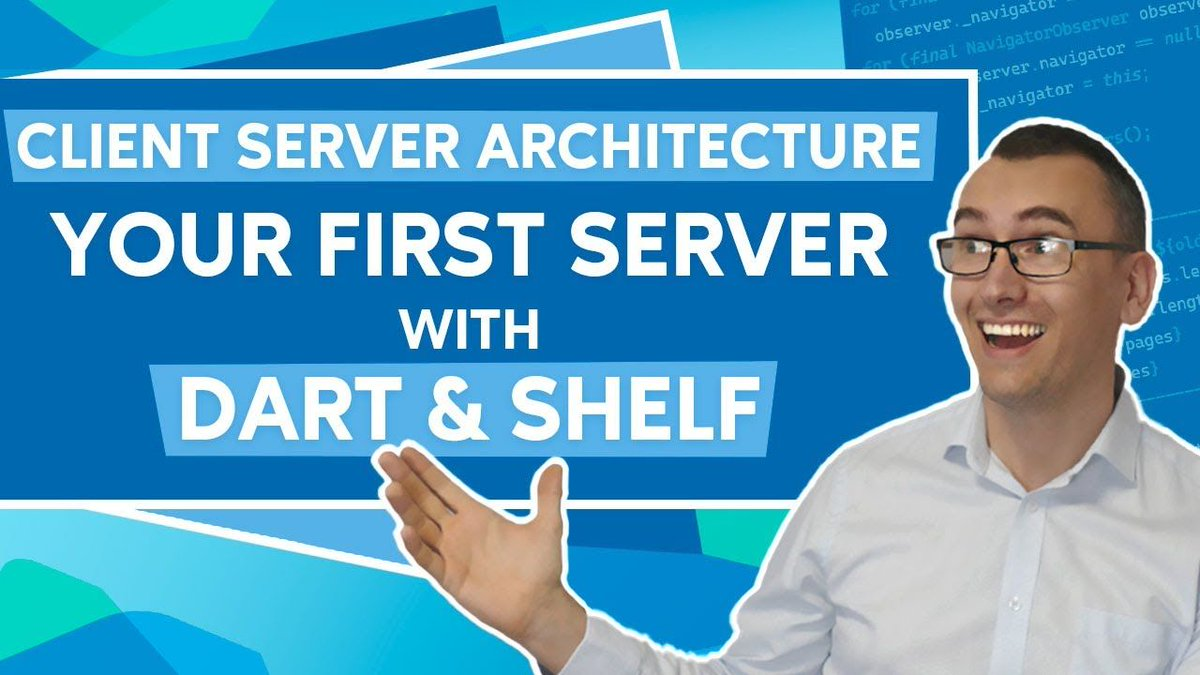 Today, I have created an extraordinary episode because it marks my start in the backend side of #dartlang. We want to discover client-server architectures, how they work together and last but not least we will create our very first Dart shelf server. youtu.be/kYM-wlOhQ3I