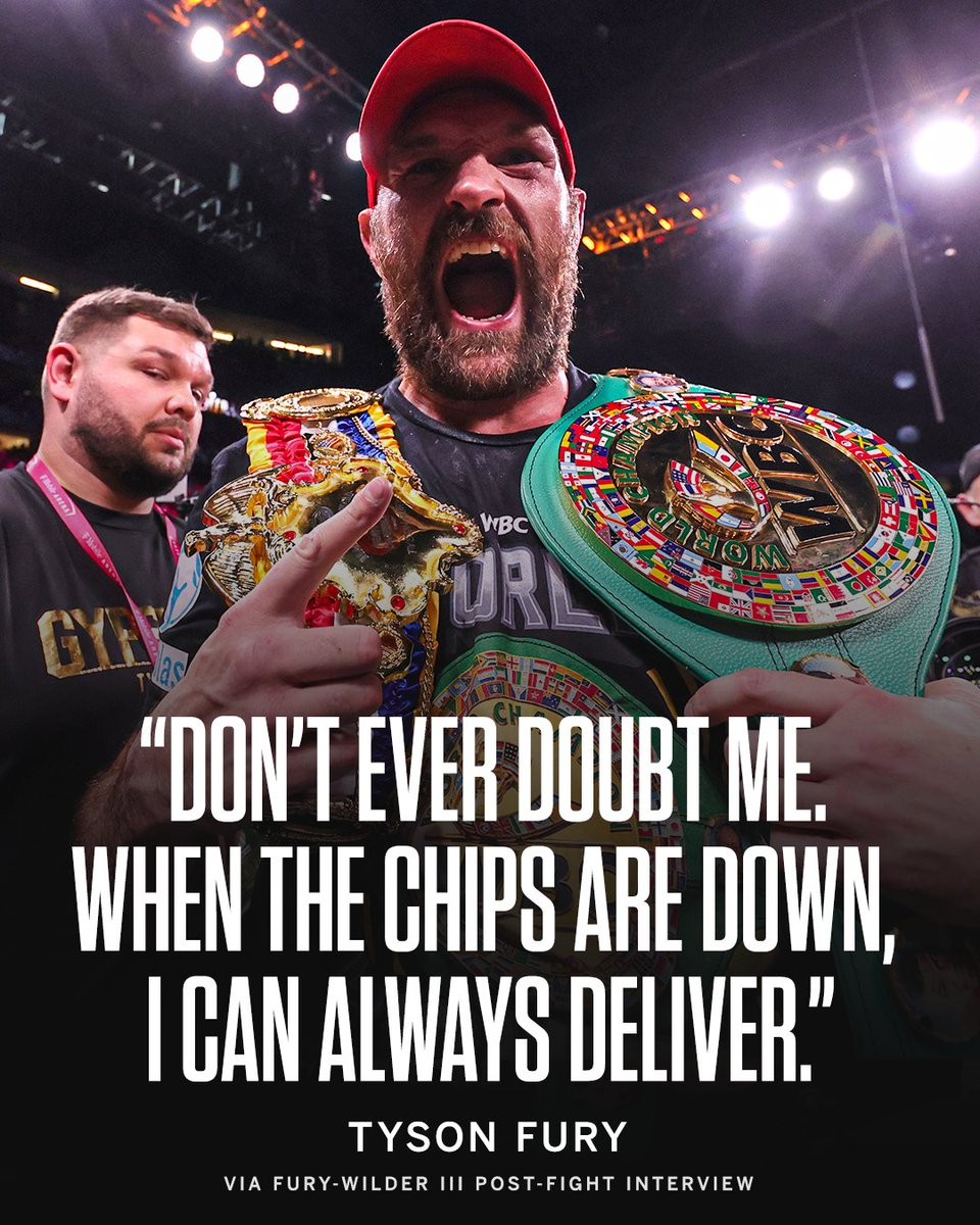 Can't count out @Tyson_Fury 😤 #FuryWilder3 https//t.co/kI4y15d7hc