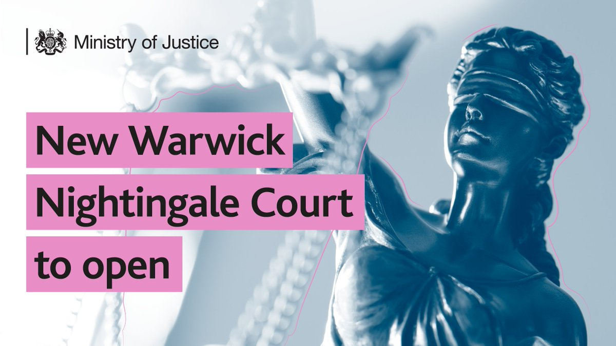 Temporary Nightingale Courts have helped to increase capacity and minimise delays for victims, witnesses, and defendants. Warwick Nightingale Court is the fifth to open in the Midlands, allowing more trials to be heard. Find out more: gov.uk/government/new…
