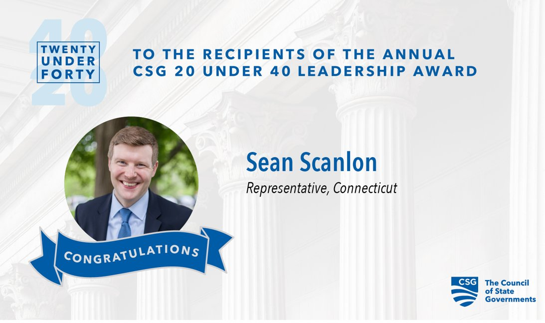 Congrats once again to Rep. @SeanScanlonCT!  View all four of the #20under40 winners from the Eastern Region on our website: https://t.co/8D4CISwrl5
