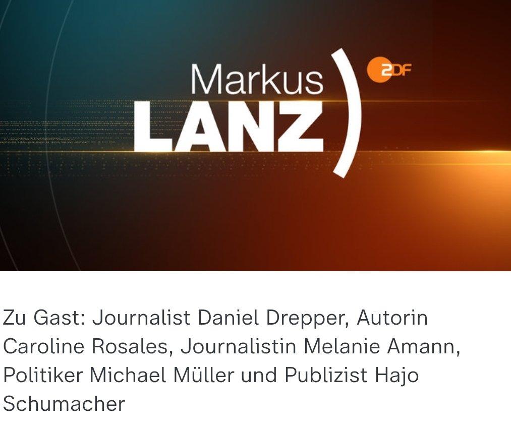 Ich freue mich sehr, dass ich heute Abend unser Team und die Springer-Recherche von @laloeffelstiel, @katrin_langhans und @ENGERT bei Markus Lanz vertreten darf. #Reichelt https://t.co/HDmaTgcgj1