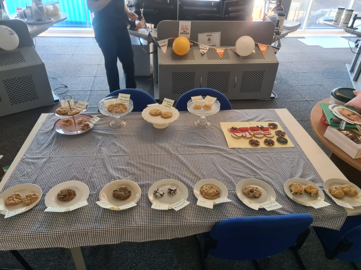 Who doesn't love a good biscuit❓ Today's @DfrsNfrsControl Biscuit Bake Off has been judged by @nottsfire Stockhill crew🚒 In first place are Amy's Oreo Cookies, in second place are Sarah's Gooey Rolo Cookies, and in third place we have Jodie's Peanut Butter Cookies🍪