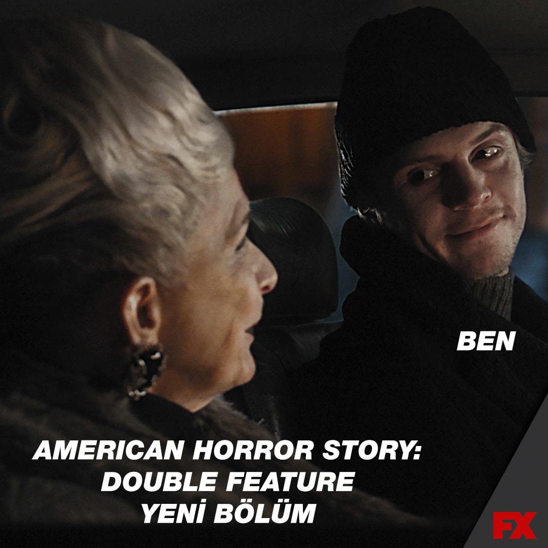 American Horror Story: Double Feature yeni bölüm ❤️ Ben  American Horror Story: Double Feature yeni bölümüyle bu akşam 23.10'da ilk kez ve sadece #FX'te!
