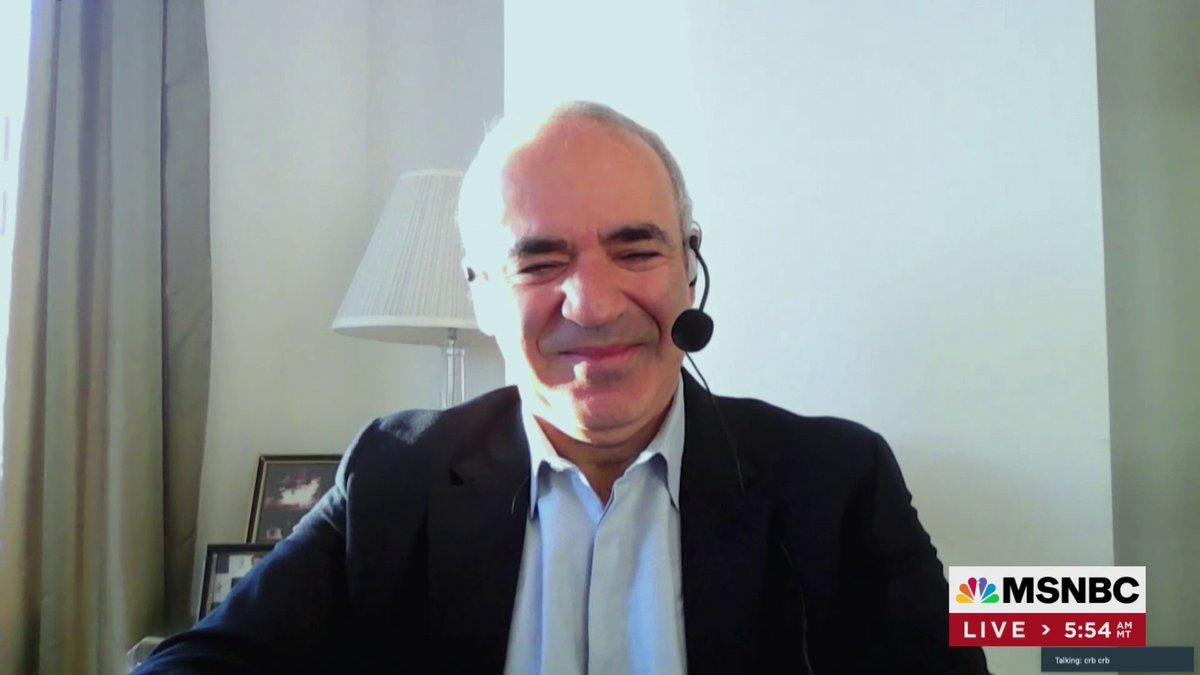 Joining us now: @Kasparov63