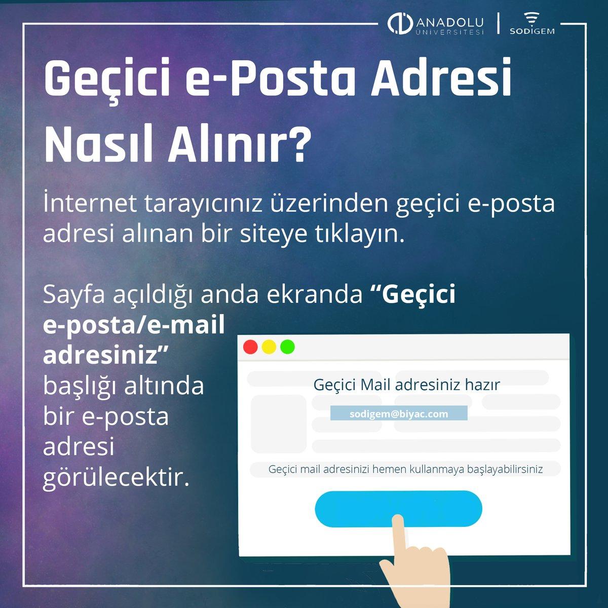 Geçici e-posta nedir?  #sodigem #geçicieposta #tekkullanımlıkmail #EmailMarketing #email #anonymous #illustration @Anadolu_Univ