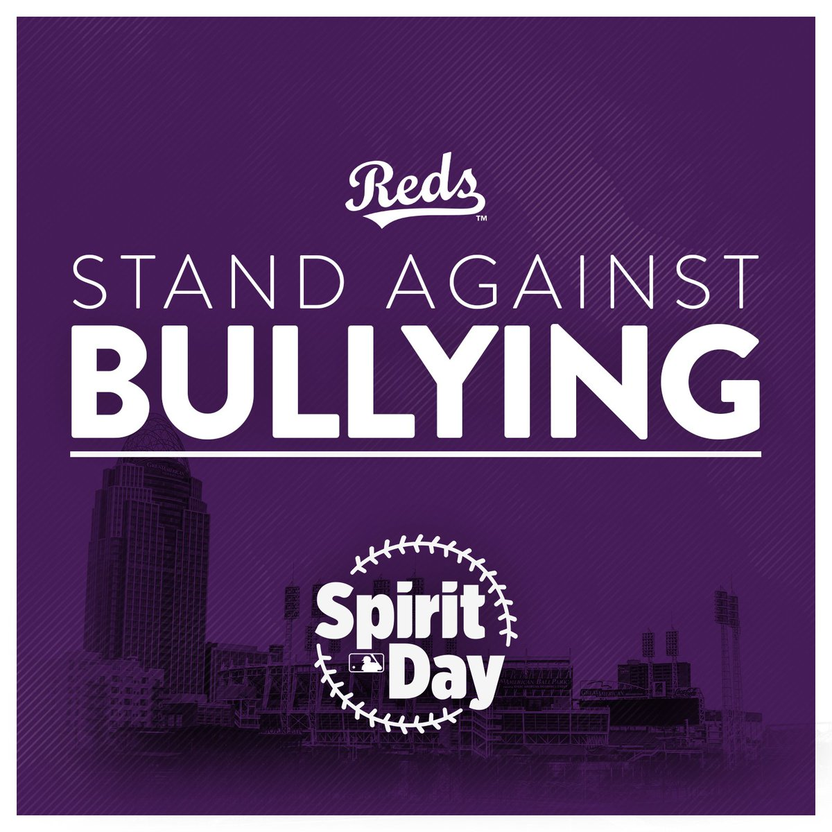 The Reds join MLB in going purple today in honor of #SpiritDay! We are proud to support LGBTQ youth and speak out against bullying. glaad.org/spiritday