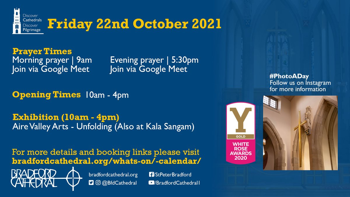 Join us on Friday 22nd October!  Find out more at bradfordcathedral.org/whats-on/-cale…  #VisitBradford #Bradford2025 #Visit #Prayer #Cathedral #ThingsToDo