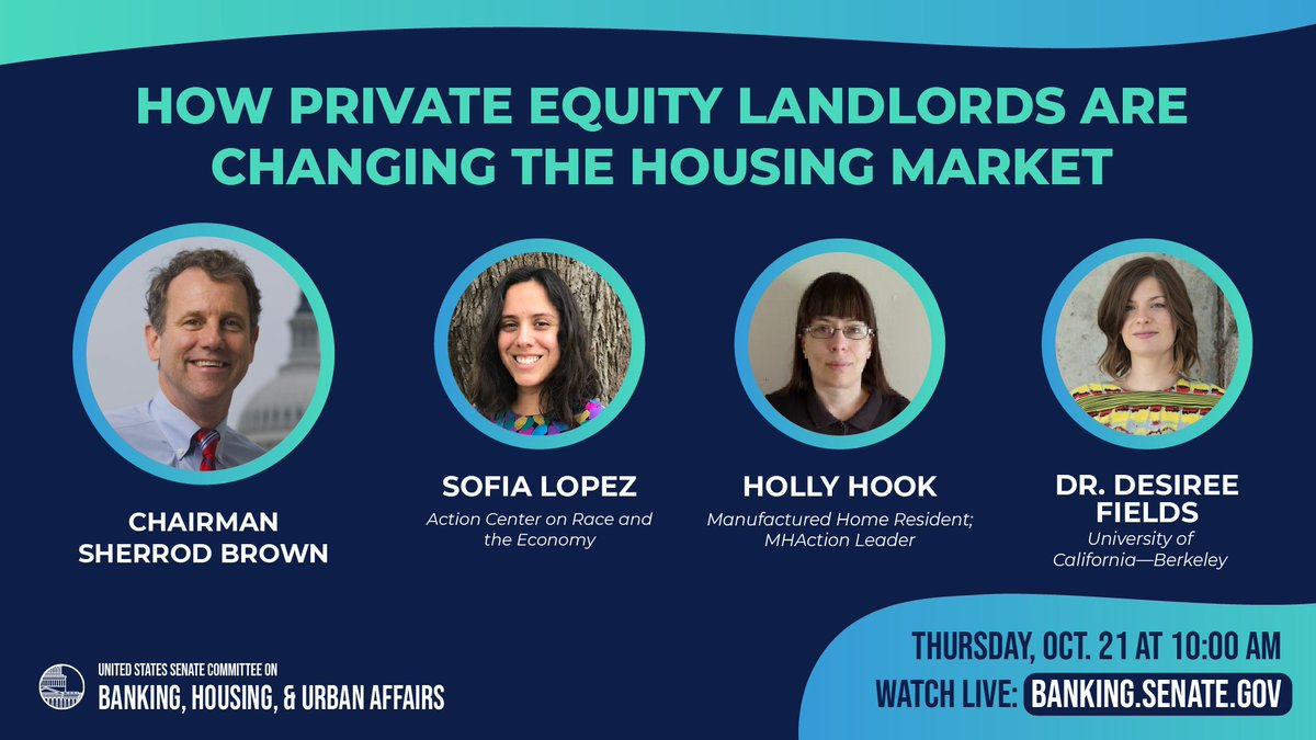 Today's hearing was *supposed* to be about private equity and housing.   But did that stop Sen. Toomey from redbaiting @ACREcampaigns, indicting public housing/NYCHA and taking shots at Schumer? Nope!   Maybe we can we talk about the actual issues one day 😒 https://t.co/ZVK86rx0te