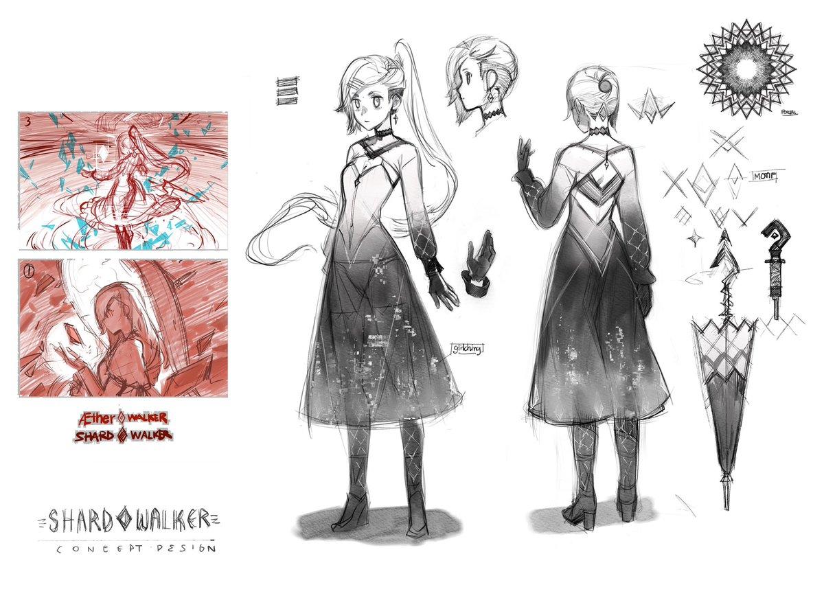 Next #nft project update. Concept design of SHARD♦️WALKER character. #NFTTHAILAND