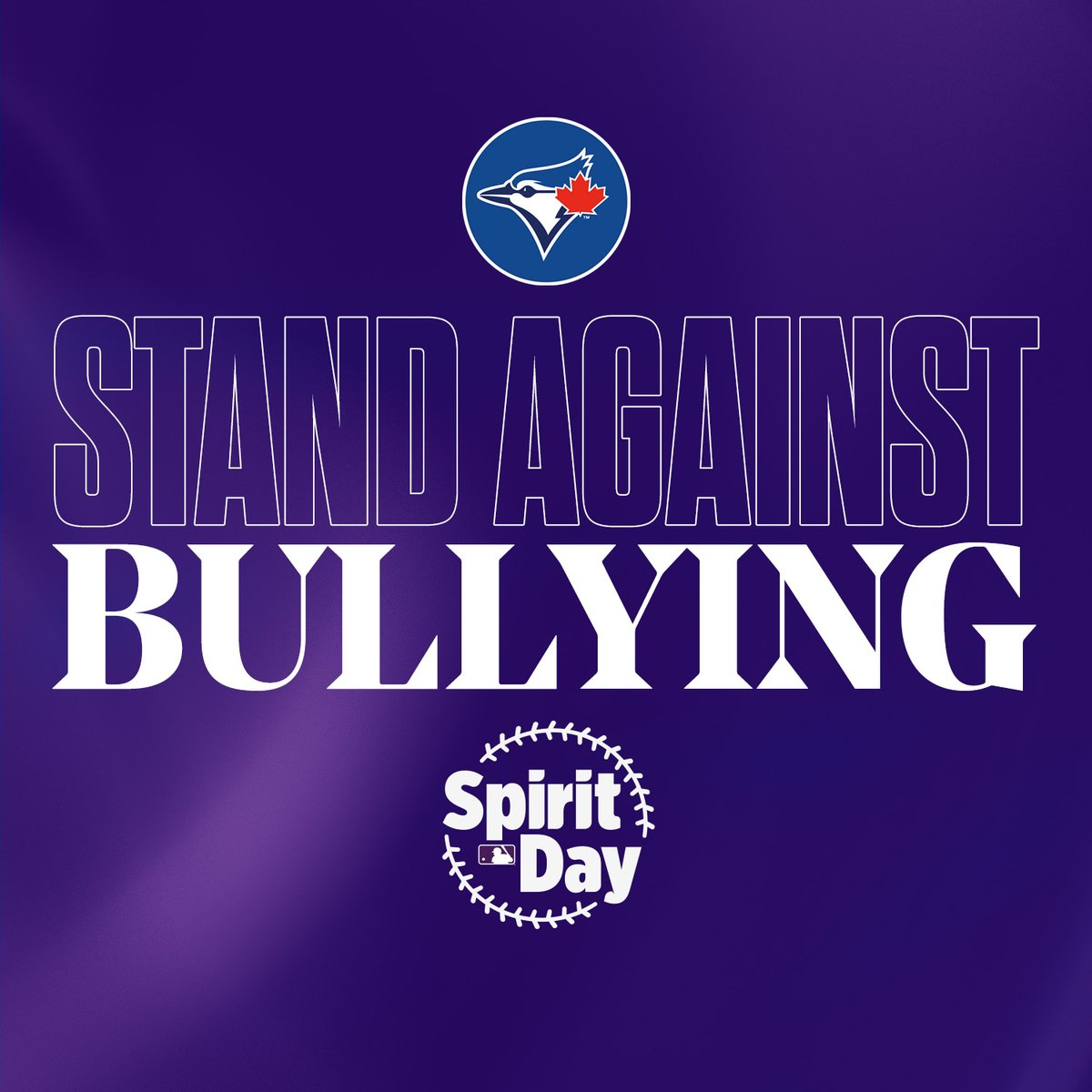We are proud to join @MLB to take a stand against bullying and show our support for LGBTQ2+ youth. #SpiritDay