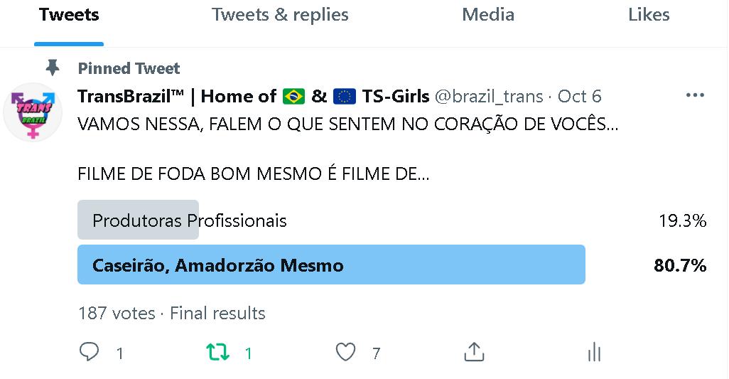 RESULTADO FINAL DA NOSSA ENQUETE! FINAL RESULTS OF OUR QUIZZ!