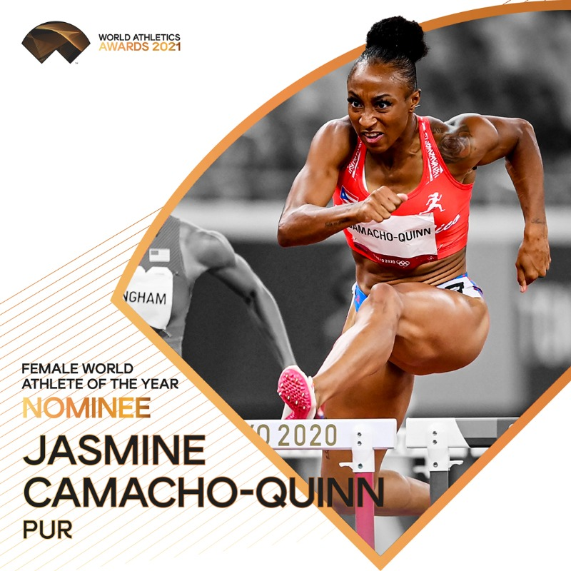 #WorldAthleticsAwards announcement! @JCamachoQuinn is nominated for Female World Athlete of the Year 2021. Retweet to vote for her.