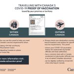 Image for the Tweet beginning: Canada's COVID-19 proof of vaccination