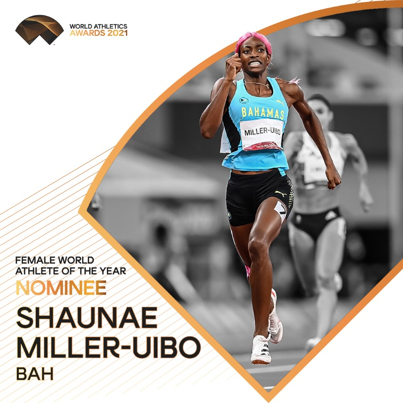 #WorldAthleticsAwards announcement! @Hey_ItsShaunae is nominated for Female World Athlete of the Year 2021. Retweet to vote for her.