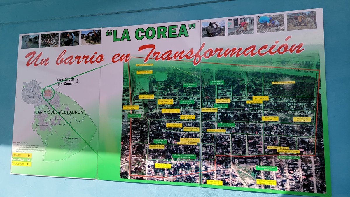 New sewage system, new roads & sidewalks, map of 84 community projects in San Miguel del Padrón, Havana #Cuba & primary school whose rehab began in March. All kids return to school Nov. 15 in person fully vaccinated! Cuba resisting US blockade. @siempreconcuba @GHNordelo5 @pslweb