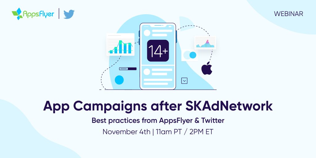 Join AppsFlyer's Vivek Kumar and @Twitter's @bobby_mcfarland on Nov 4 to learn best practices that will help you step up your UA game. ow.ly/Nm2L50Gvc62