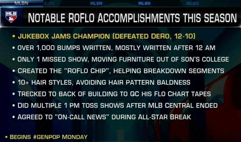 Add Jukebox Jams champ to @RoFlo's 2021 resume! #MLBCentral