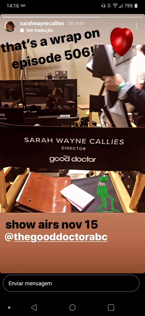 Wrap of episode 5x06! Posted by @SarahWCallies   And guess what?! Another hiatus  #TheGoodDoctor #shea