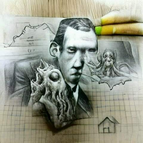 🐙'That is not dead which can eternal lie, and with strange aeonseven death may die.'🎨Art: Miguel Fliguer🐙#HPLovecraft #Lovecraftian #Mythos #Horror