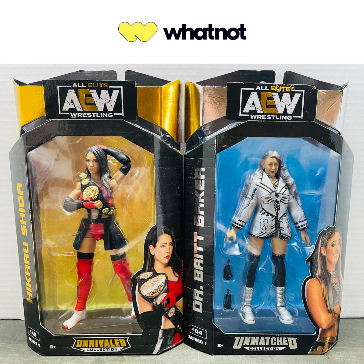 Looking for AEW figs? Check out @Whatnot, the go-to destination for live action figure & toy auctions! Mon. 10/25 @ 9:30pm ET, 30+ AEW figures will be up for auction on empire_of_awesome's page, with many starting at just $1! Get the @Whatnot app to buy, sell, & go live today!