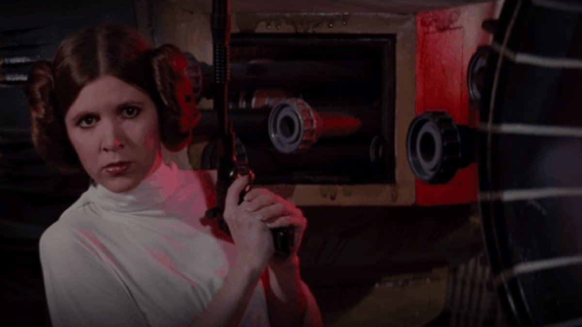 RT @Gizmodo: Star Wars Saved Its Best Entrance for Carrie Fisher