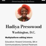 Image for the Tweet beginning: 🙌🏾 congrats Hadiya! Proud of