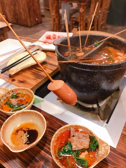 横浜中華街で選びたい放題の串のお鍋!牛肉も食べ放題!美味しかった  #tabelog