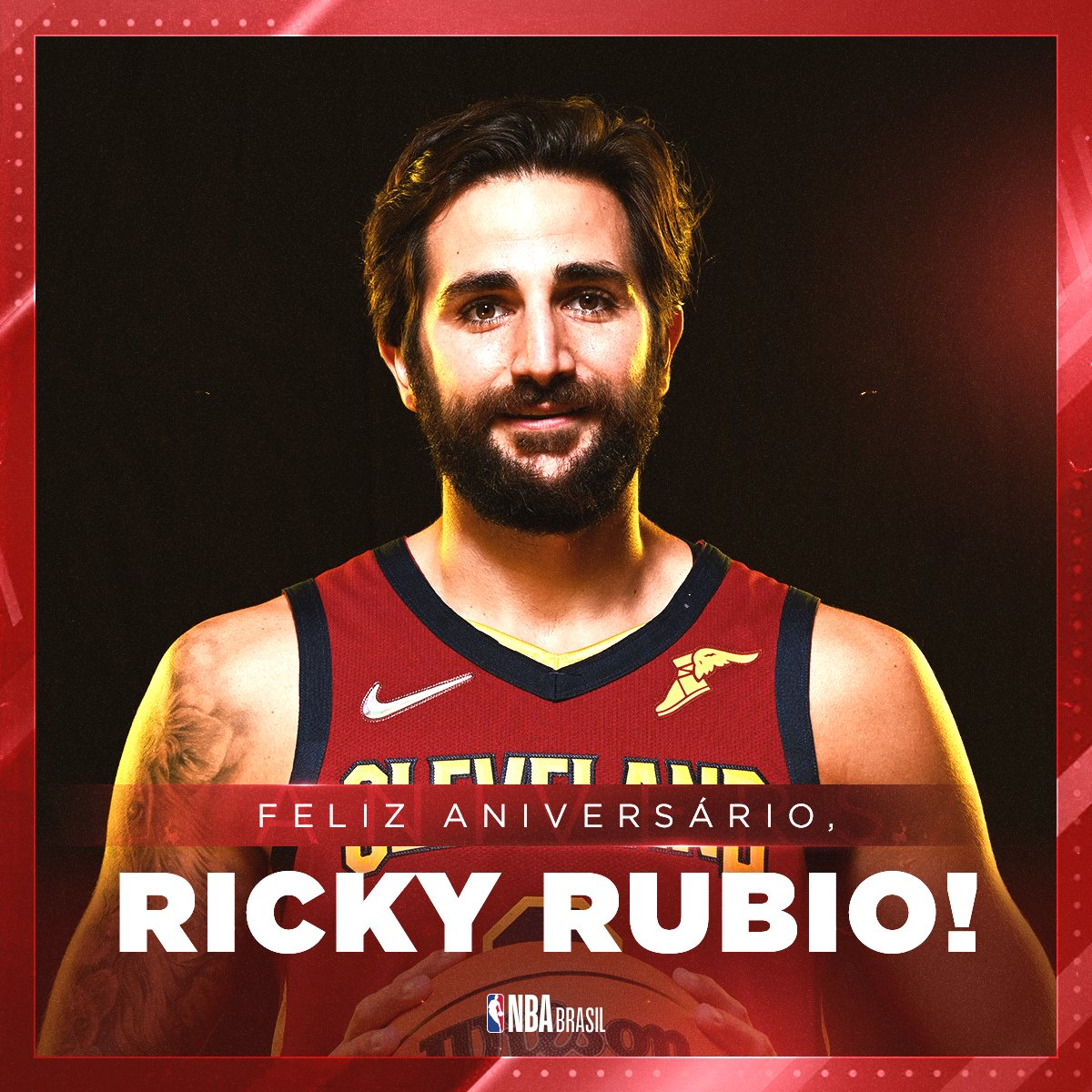 Feliz Aniversário, @rickyrubio9! 🥳🇪🇸  O armador espanhol dos @cavs completa 31 anos nesta quinta! #NBABDAY #BeTheFight