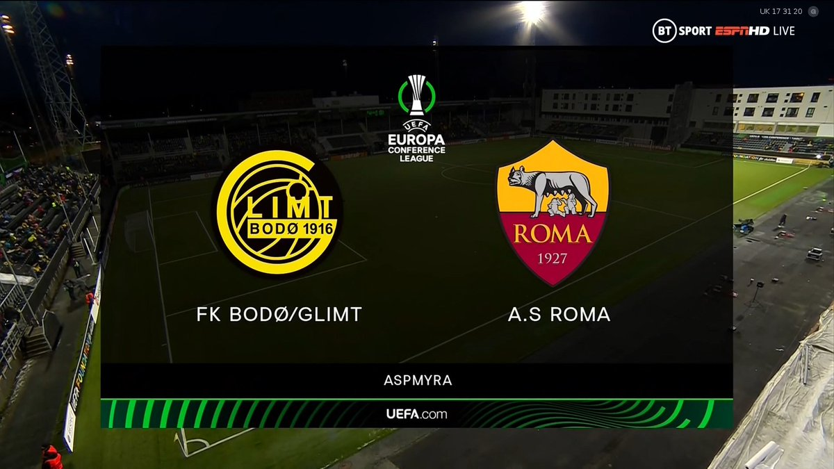 Full match: Bodo / Glimt vs Roma