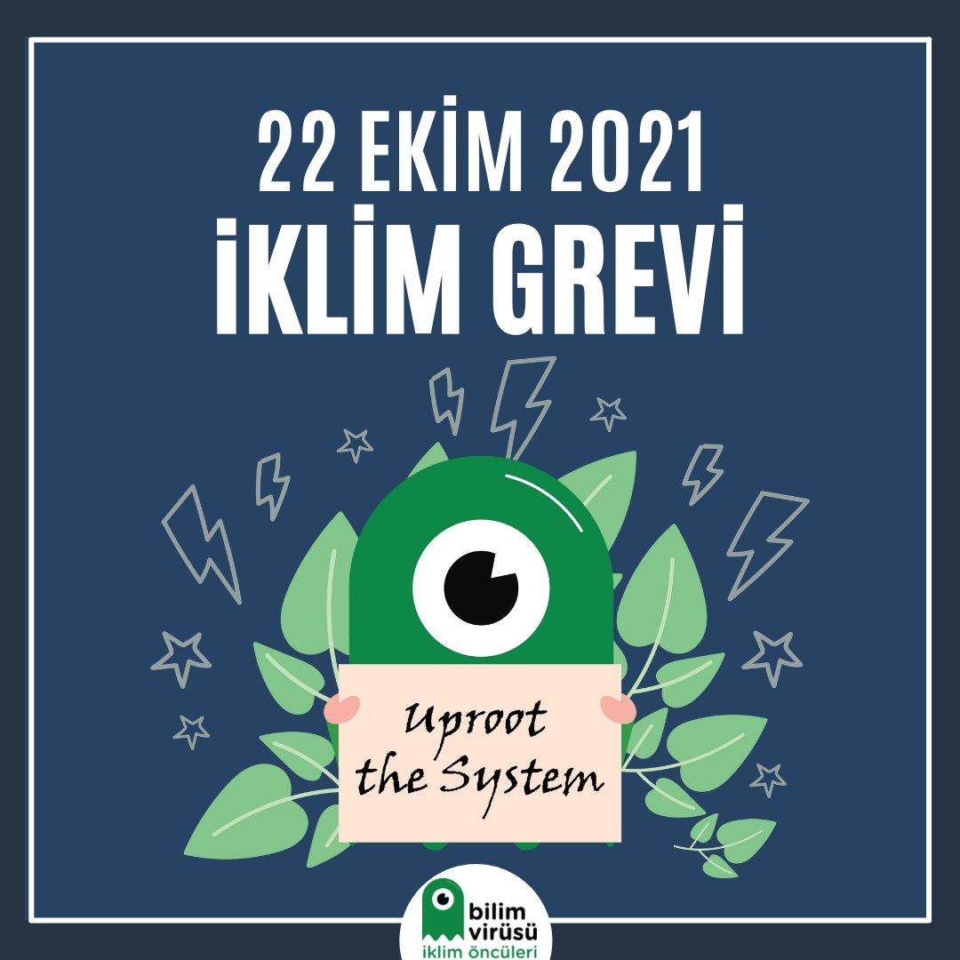 #İklimGrevi2021 'de yıllardır dile getirilen taleplerimizi duyurmak ve karar alıcıları harekete geçirmek için bu sefer de COP26 öncesinde 22 Ekim Cuma günü saat 17.00'de Maçka Demokrasi Parkı girişindeyiz! 🤩  🥰 Seni de aramızdan görmekten mutluluk duyarız!